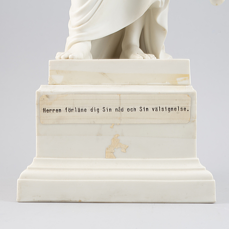 Bertel thorvaldsen, efter. skulptur, parian, gustavsberg, 1927.