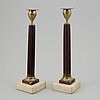 A pair of late gustavian late 18th-century candlesticks.