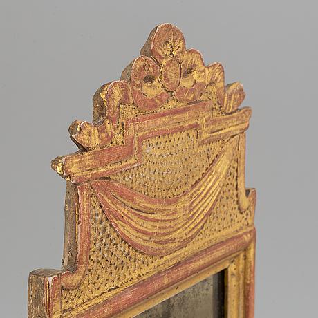 A swedish gustavian girandole mirror by anders carlsson, (1772-1801).