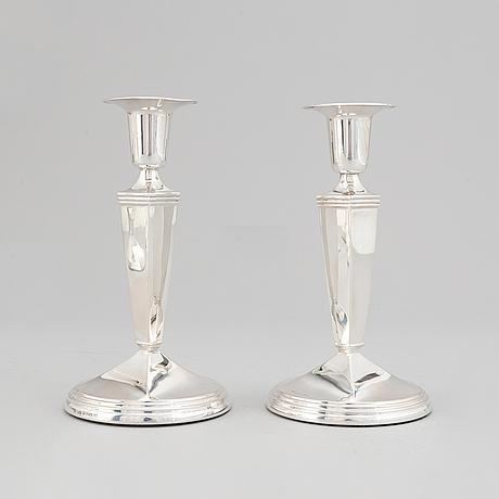 Seven silver candlesticks, gab, stockholm, 1957-66.