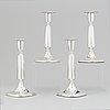 Tore eldh, four silver candlesticks, k&ec, göteborg, 1961-70.