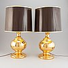 A pair of table lamps, probably italy, 1970's.