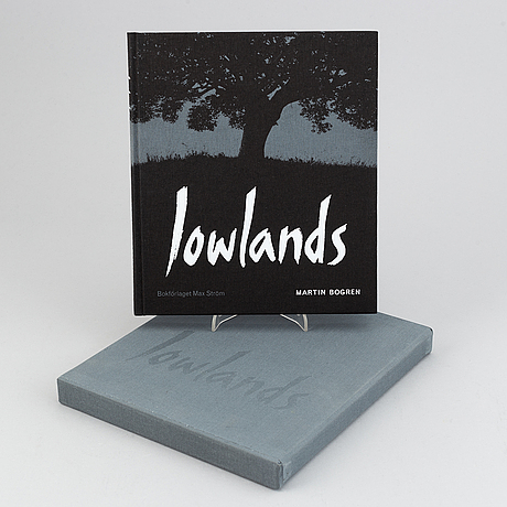 Martin bogren, 'lowlands', a book with photograph, photograph signed and numbered 21/25.