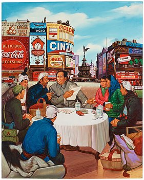707. Erró (Gudmundur Gudmundsson), Mao vid Piccadilly Circus.