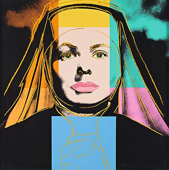"450. Andy Warhol, ""The Nun"", from; ""Three portraits of Ingrid Bergman""."