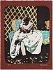 Karin broos, a lithograph in colors, signed and numbered 4/90.
