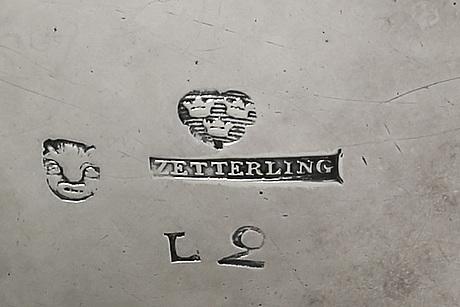 A swedish 18th century silver chocolate jug mark of pj zetterling linköping 1793.