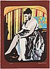 Karin broos, a lithograph in colors, signed and numbered 2/90.