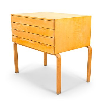 A mid 20th century architect file cabinet by Artek's Drawing office manufacturer O.Y. Huonekalu- ja Rakennustyötehdas AB.