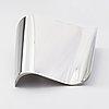"""Pekka piekäinen, a stainless steel vase """"finlandia"""". nikama design, oulu."""