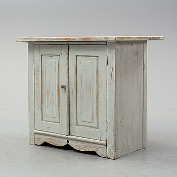A painted pine cabinet, late 19th Century.