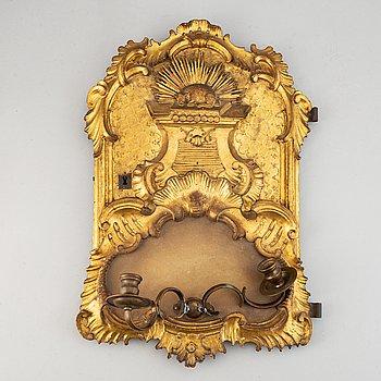Vägglampett, rokoko,  1700-tal.