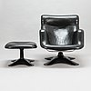 """Yrjö kukkapuro, nojatuoli ja rahi, """"karuselli"""" haimi, 1970-luku."""