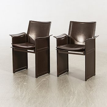 "Tito Agnolo armchairs, a pair, ""Korium"", for Matteo Grassi, second half of the 20th century."