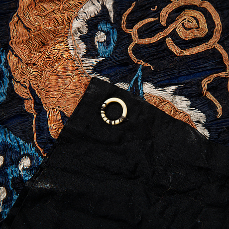 An embroidered silk altar cloth, qing dynasty, late 19th century.