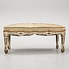 A louis xvi-style bench, late 19th century.