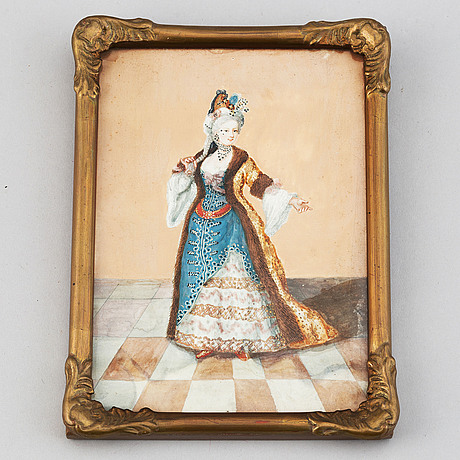 Unknown artist 18th/19th century. miniature. unsigned.