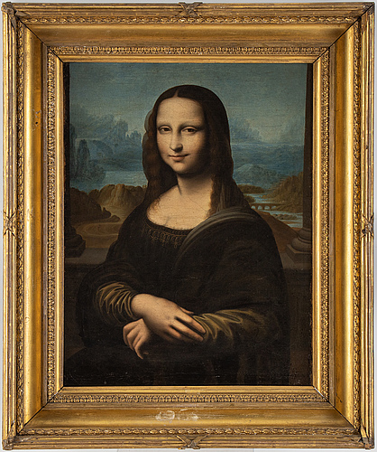 Leonardo da vinci, copu after, 19th century, oil on canvas.