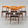 Six oak chairs, mid 20th century.