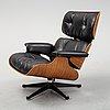 A 'lounge chair' by charles and ray eames for herman miller.