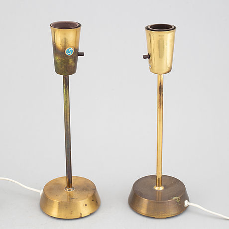 A pair of table lamps, ewå, model b 54 p, 1960-70's.