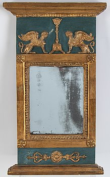 An Empire mirror, possibly Norrköping, early 19th Century.