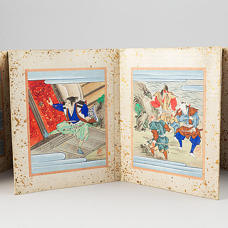 A japanese illustrate album by unknown artist, early 20th century.