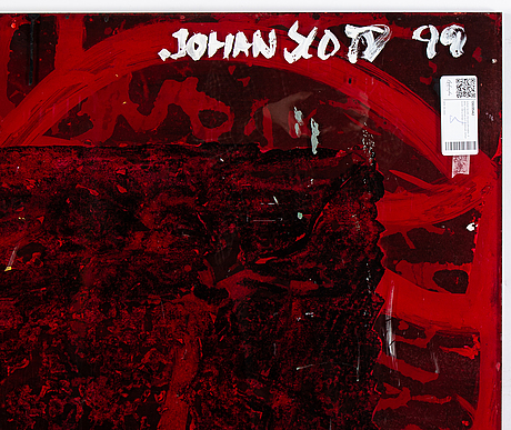 Johan scott, oil on plexi, 4 parts, signed johan scott and dated -99 verso.