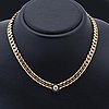 Necklace 18k gold 1 old-cut diamond approx 0,90 ct approx h-i/si, gunnar fahlström stockholm 1991, total weight 86,0 g.
