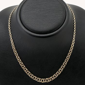 Necklace 18k gold, 14,6 g, approx 43 cm.