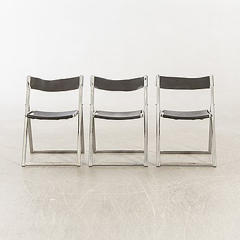 "Fontoni & Geraci folding chairs 3 ""Elios"" Italy 1960s."