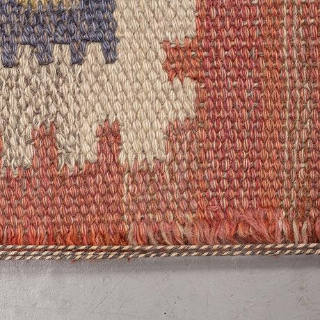 "Märta måås-fjetterström, a carpet, ""röd grön äng"", flat weave, ca 328-333 x 258,5-262 cm, signed ab mmf."