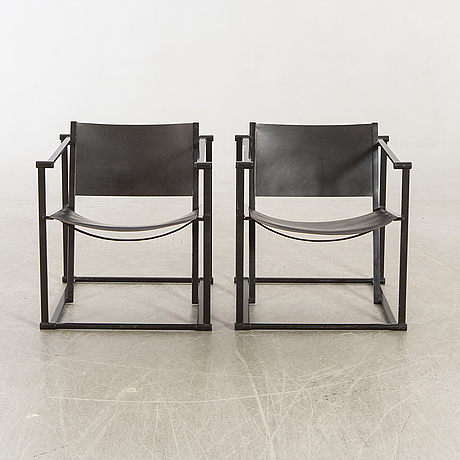 Radboud van beekum, a pair of kubus armchairs later part of the 20th century.