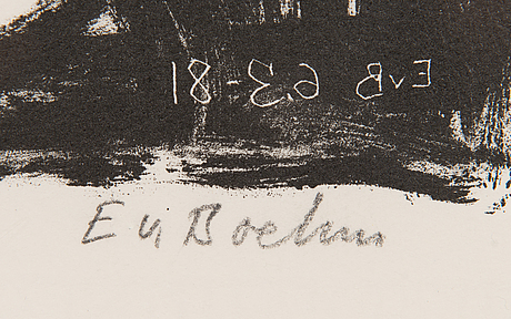 Eero von boehm, lithograph, signed and numbered v/x.