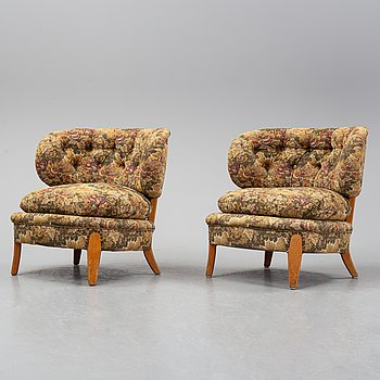 Otto Schulz, A pair of 1960's easy chairs from Jio-möbler.