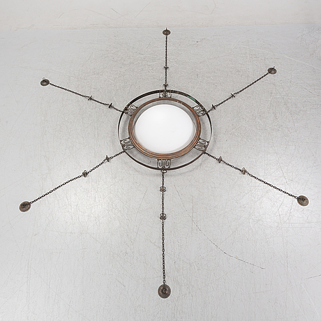Hanging lamp, probably 1920's.