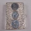 Dosor, 2 st, silver, rokokostil, london 1883 samt samuel boyce landeck, sheffield import 1900 .