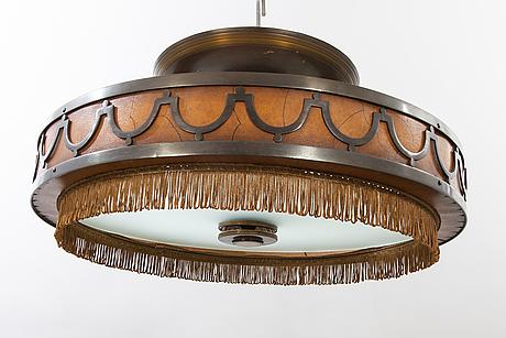 Ceiling lamp, art-deco, 1930s.