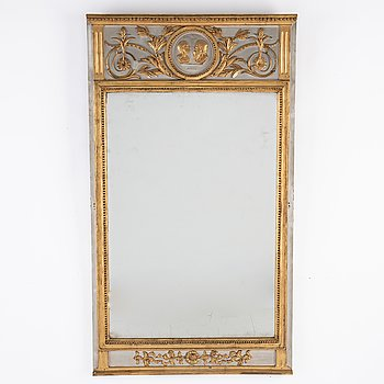 A ca 1800 late gustavian mirror.