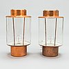 Lisa johansson-pape, a pair of mid-20th century wall lamps 17-037 for orno.
