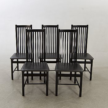 A set of five chairs later part of the 20th century.