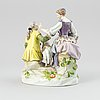 A meissen porcelain figurine, germany, second half of the 19th century.