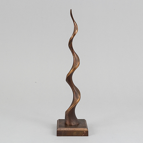 Lars rolf, sculpture. signed. bronzed aluminum. height 39 cm.
