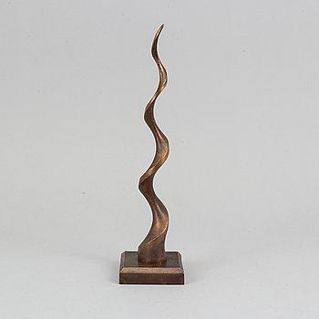 Lars Rolf, skulptur. Signerad. Bronserad aluminium. Höjd 39 cm.