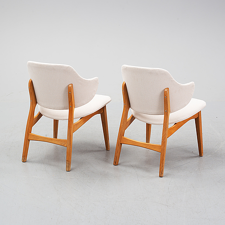 A pair of 'winni' armchairs from ikea, 1960's.