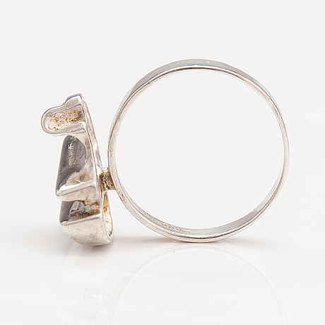 A sterling silver ring. lapponia 1982.