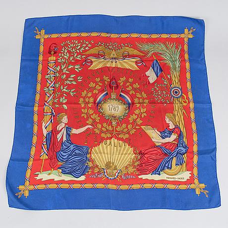 Hermès, scarf, '1789 liberté égalité fraternité'.