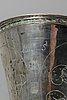 A swedish 18th century silver beaker mark of b halck halmstad 1762.