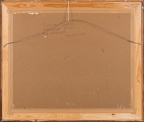 Eero von boehm, olja på pannå, signerad.