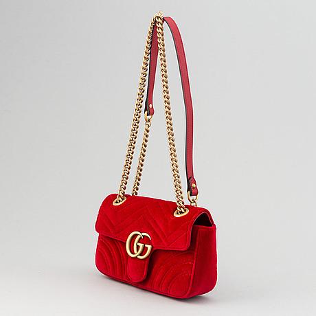 Gucci, 'marmont velvet mini'.